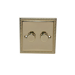 Holder 2-Way Single Brass-Plated Main Voltage Dimmer Switch