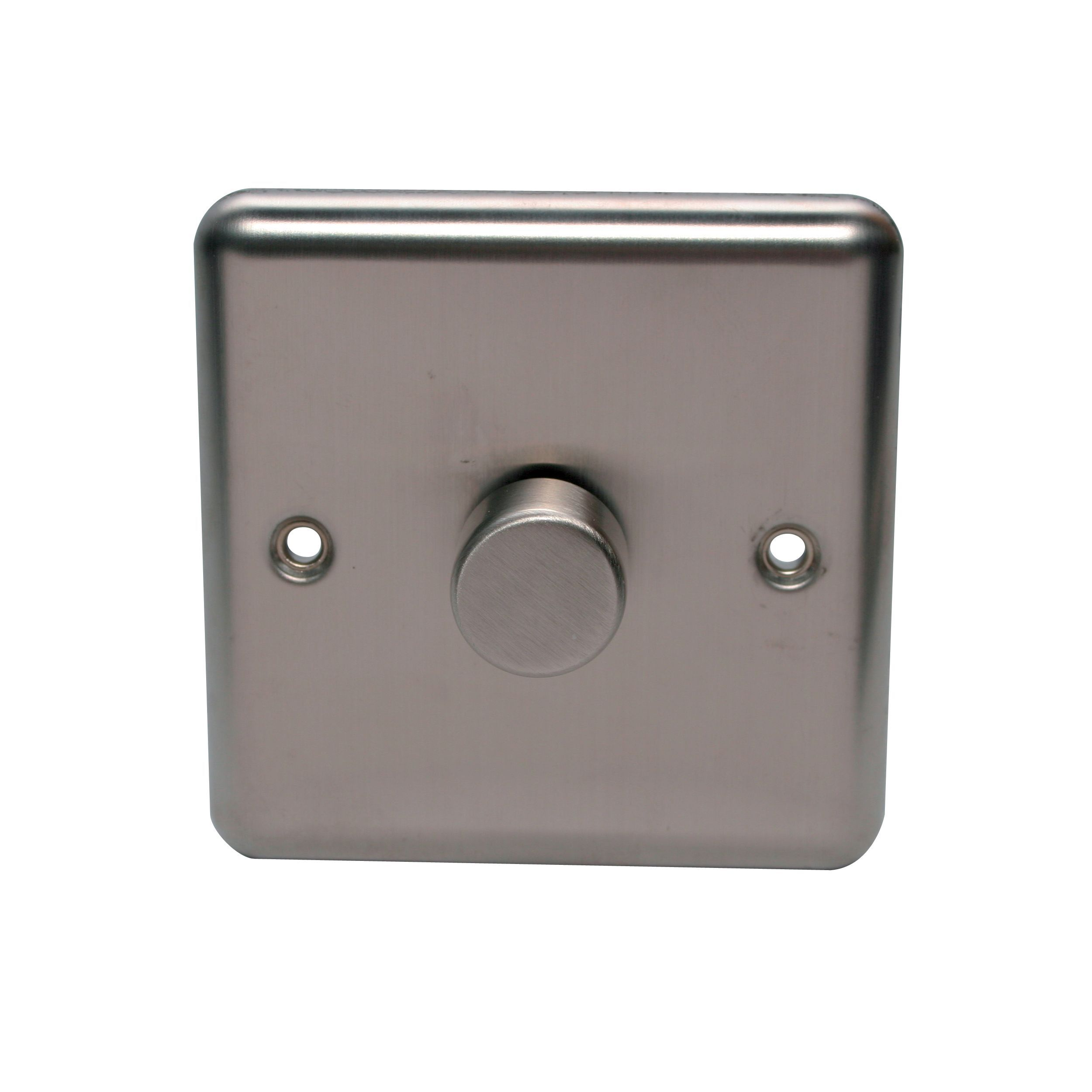 Holder 2-way Single Polished Steel Dimmer Switch