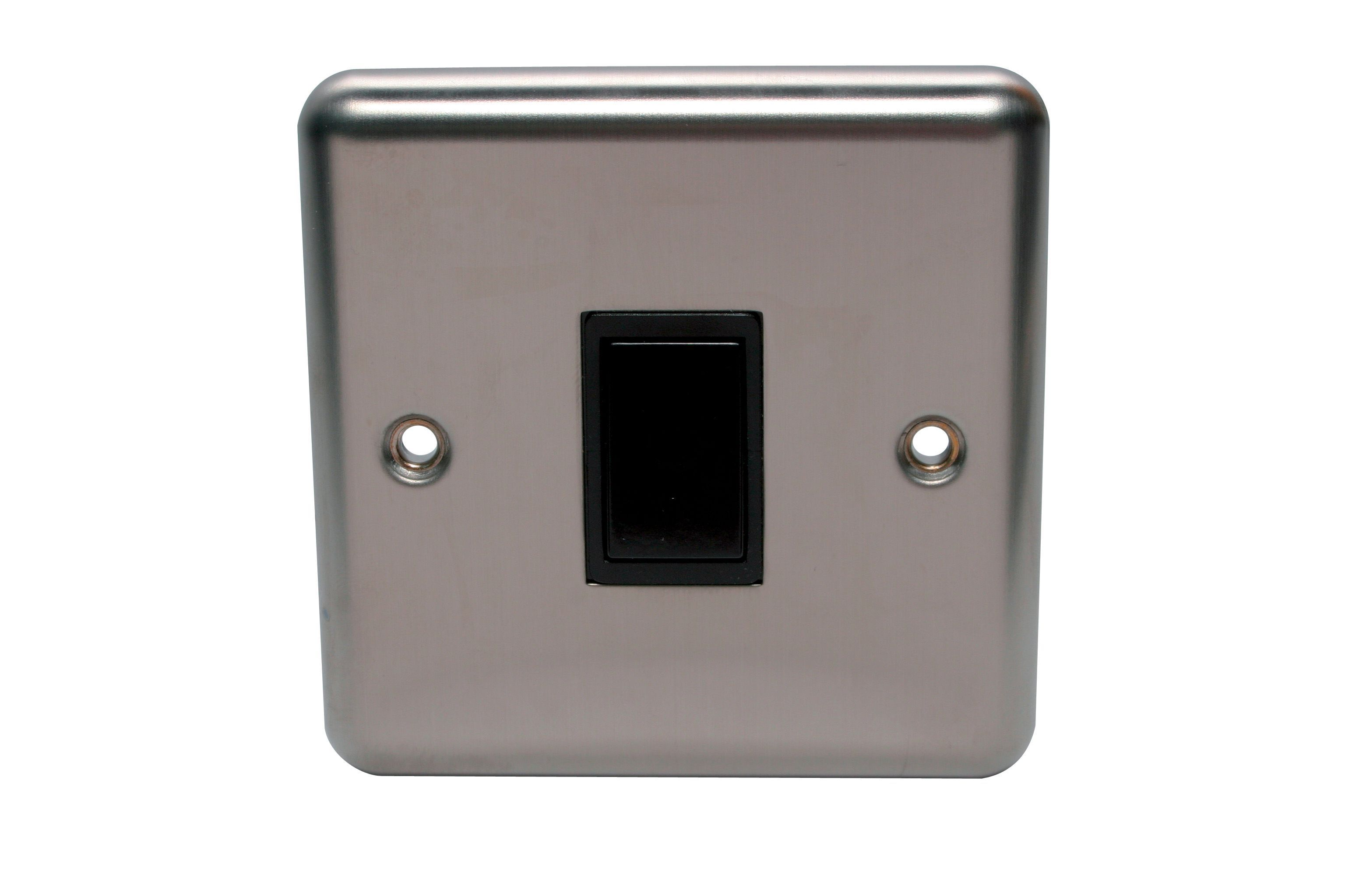 Holder 10a 2-way Single Polished Steel Light Switch