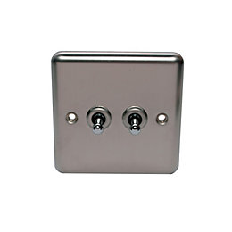 Holder 10AX 2-Way Single Stainless Steel Double Toggle