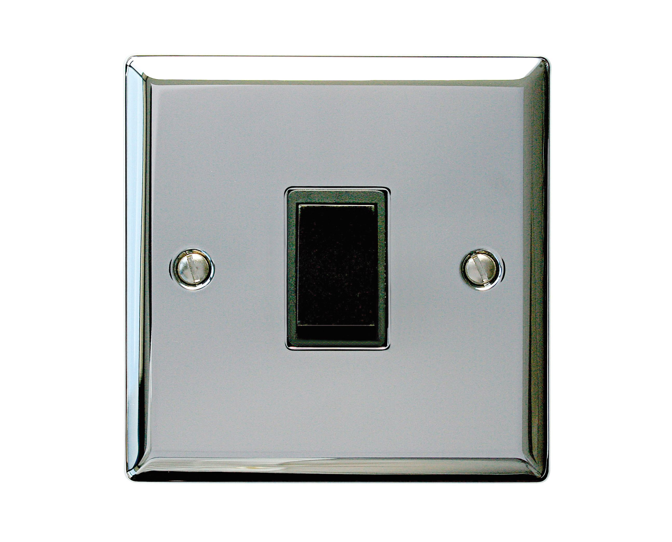 holder 10a 2 way single polished chrome light switch. Black Bedroom Furniture Sets. Home Design Ideas
