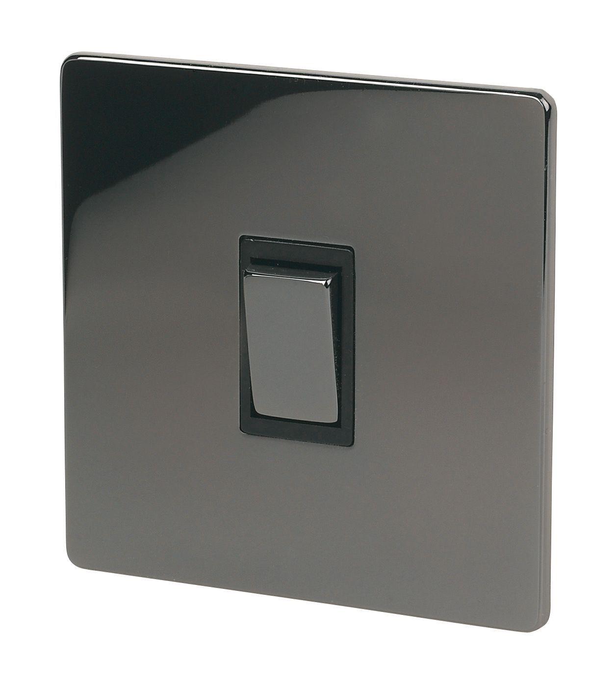 Holder 10a 2-way Single Iridium Black Light Switch
