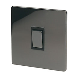 Holder 10A 2-Way Single Iridium Black Light Switch