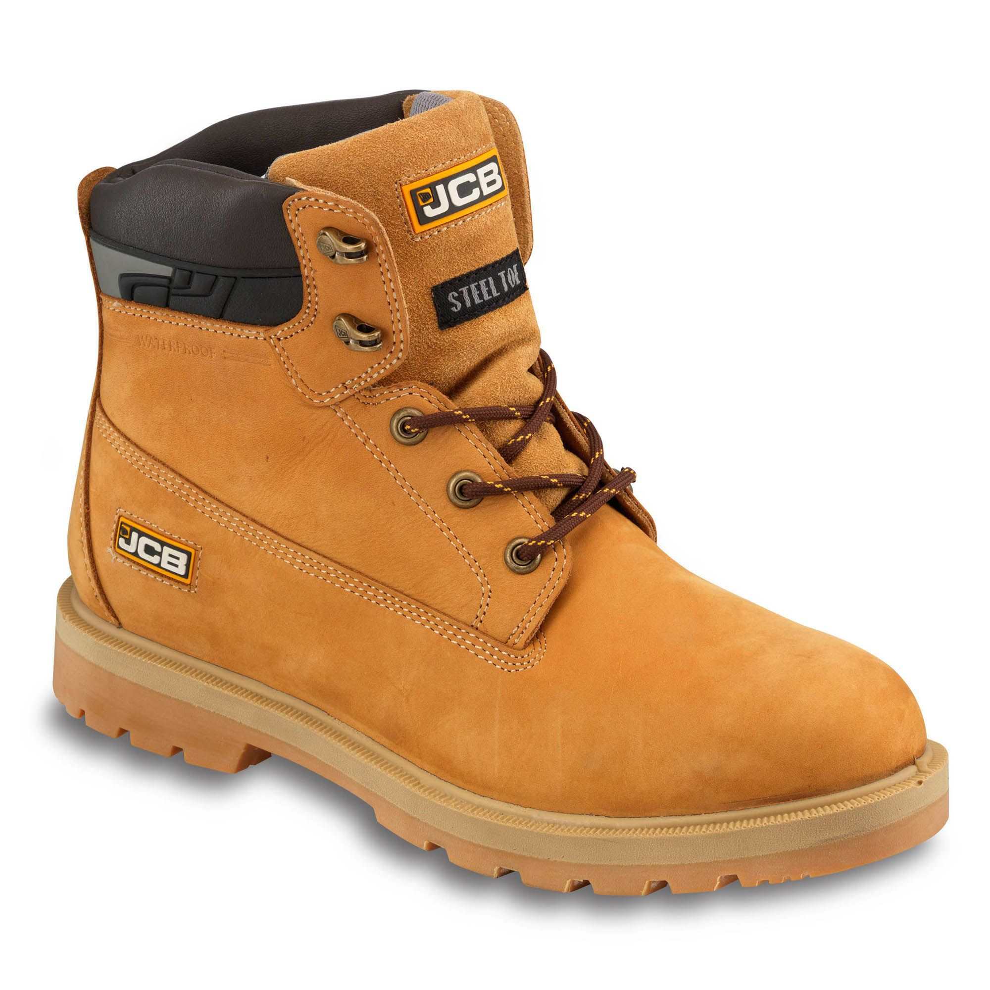 Jcb Honey Protector Safety Boots, Size 8