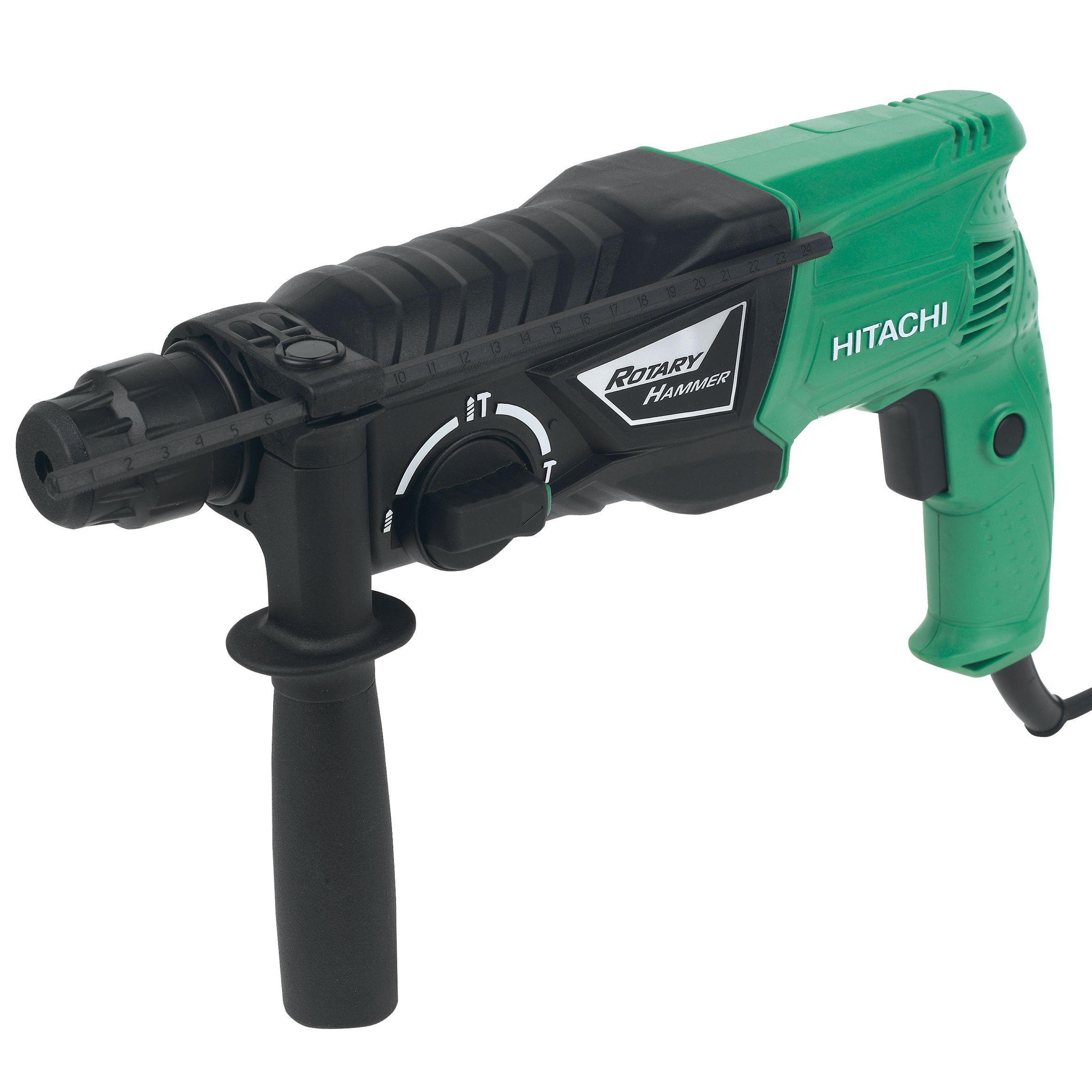 hitachi hammer drill. hitachi 730w 230v corded sds plus hammer drill dh24px/j1 | departments diy at b\u0026q r