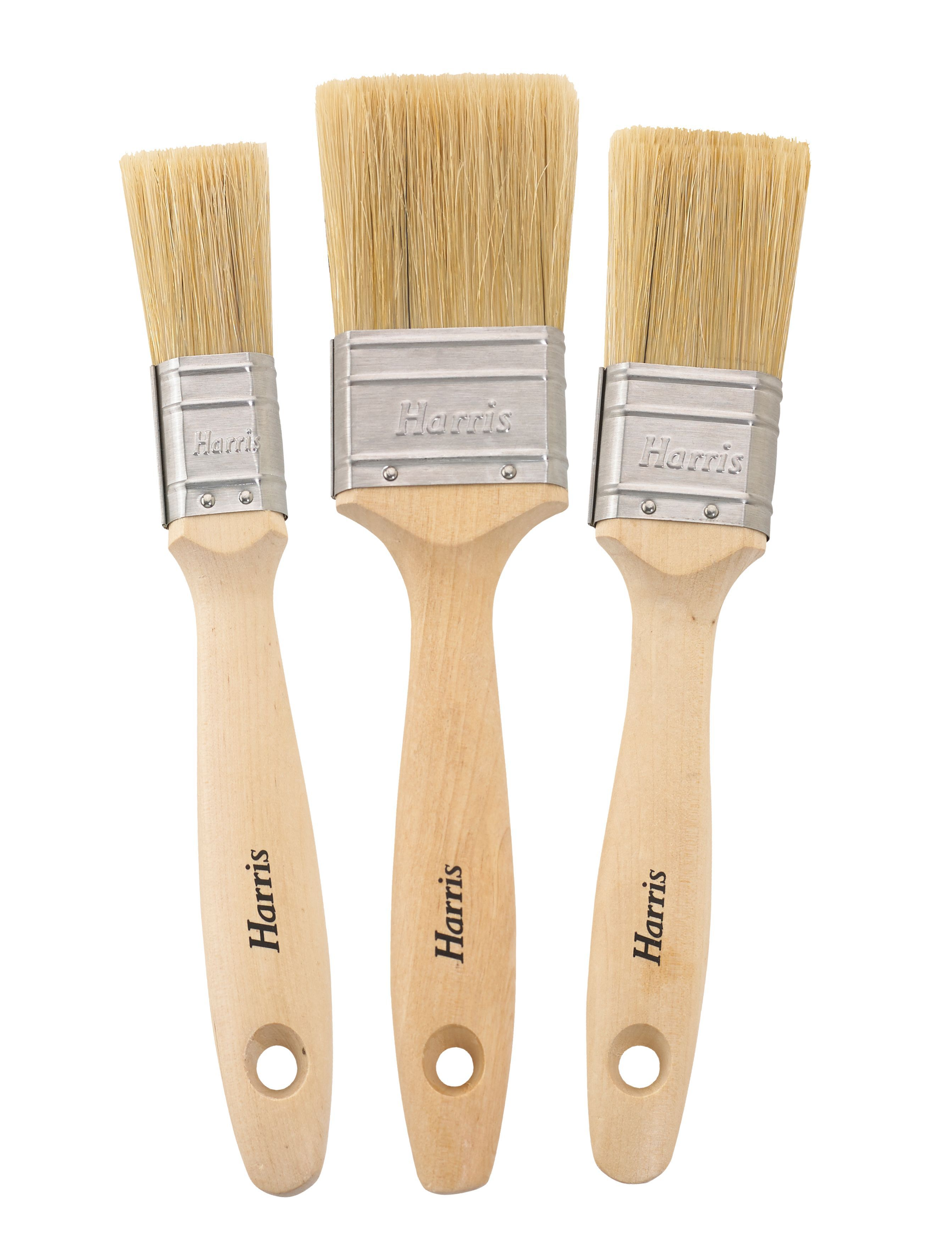 Harris Vanquish Soft Tipped Woodstain & Varnish Brush (w)1 inches, 1.5 inches, 2 inches, Pack Of 3