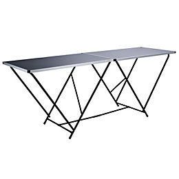 Harris Black Foldable Trestle Table (H)50mm (W)610mm (L)1m