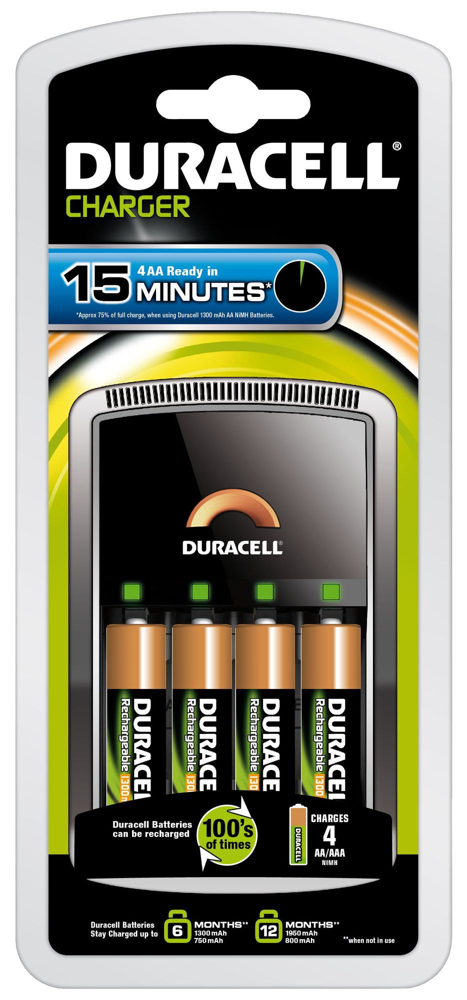 duracell 15 minute battery charger departments diy at b q. Black Bedroom Furniture Sets. Home Design Ideas