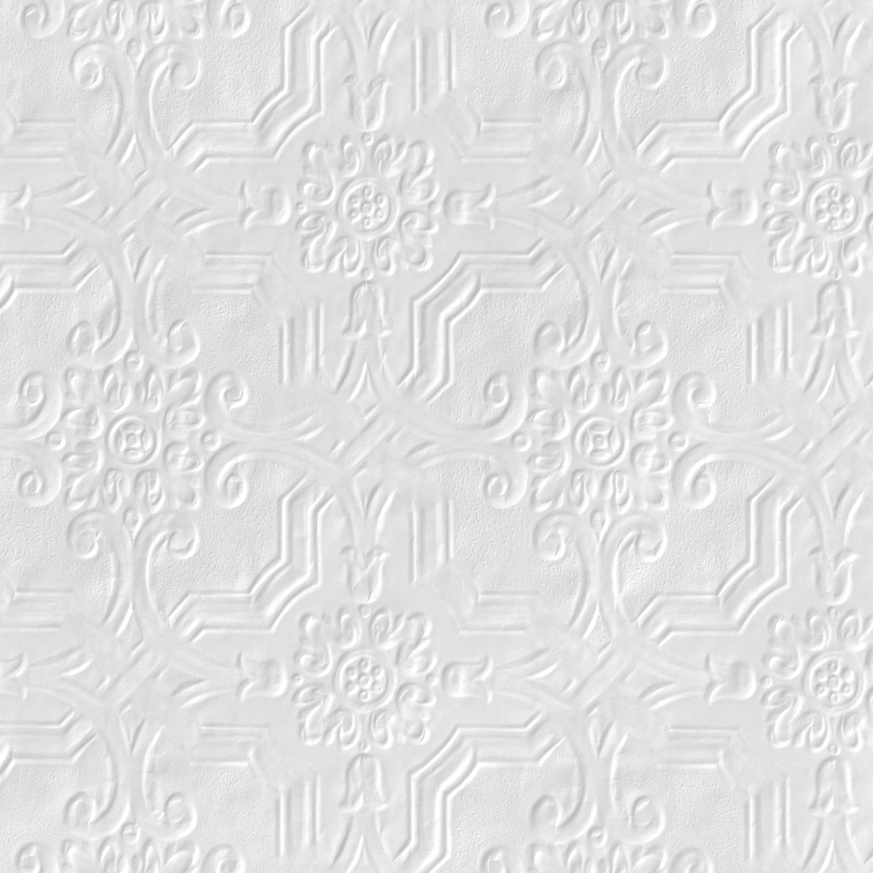 Textured paintable wallpaper - Anaglypta Original White Berkeley Textured Paintable Wallpaper Departments Diy At B Q