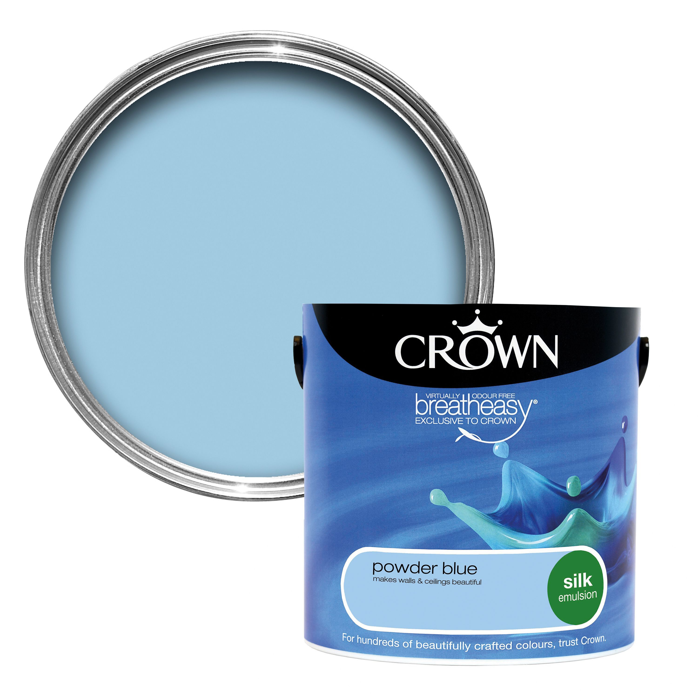 breatheasy powder blue silk emulsion paint 2 5l rooms diy at b q