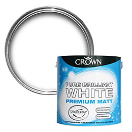 Crown Breatheasy Brilliant White Matt Emulsion Paint 2.5L