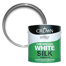Crown Breatheasy Pure Brilliant White Silk Emulsion Paint