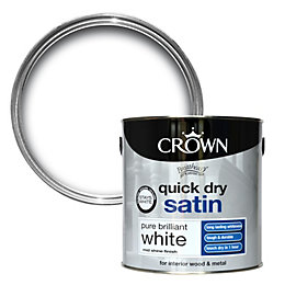 Crown Breatheasy Pure Brilliant White Satin Emulsion Paint