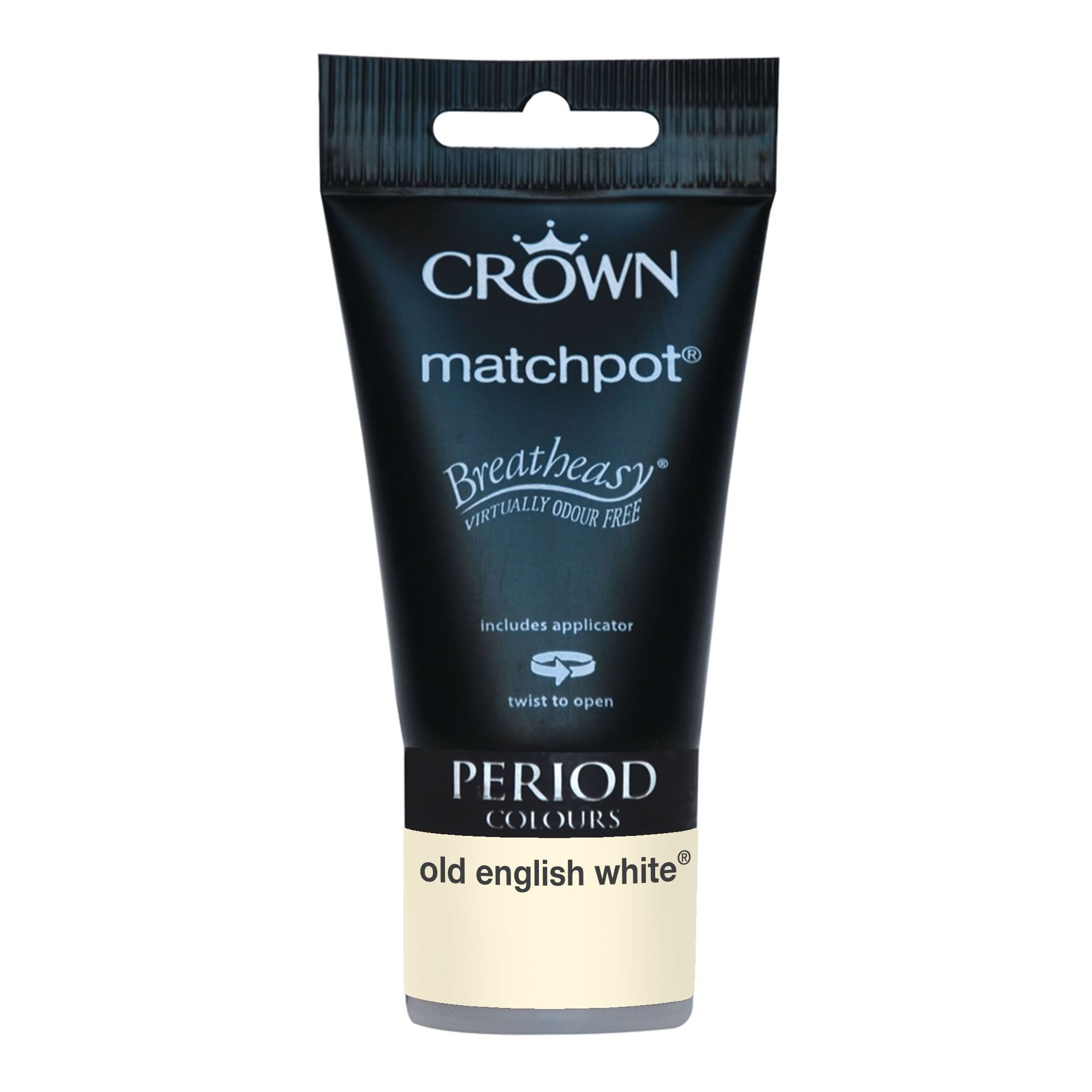 White Kitchen Emulsion crown breatheasy old english white matt emulsion paint 40ml tester