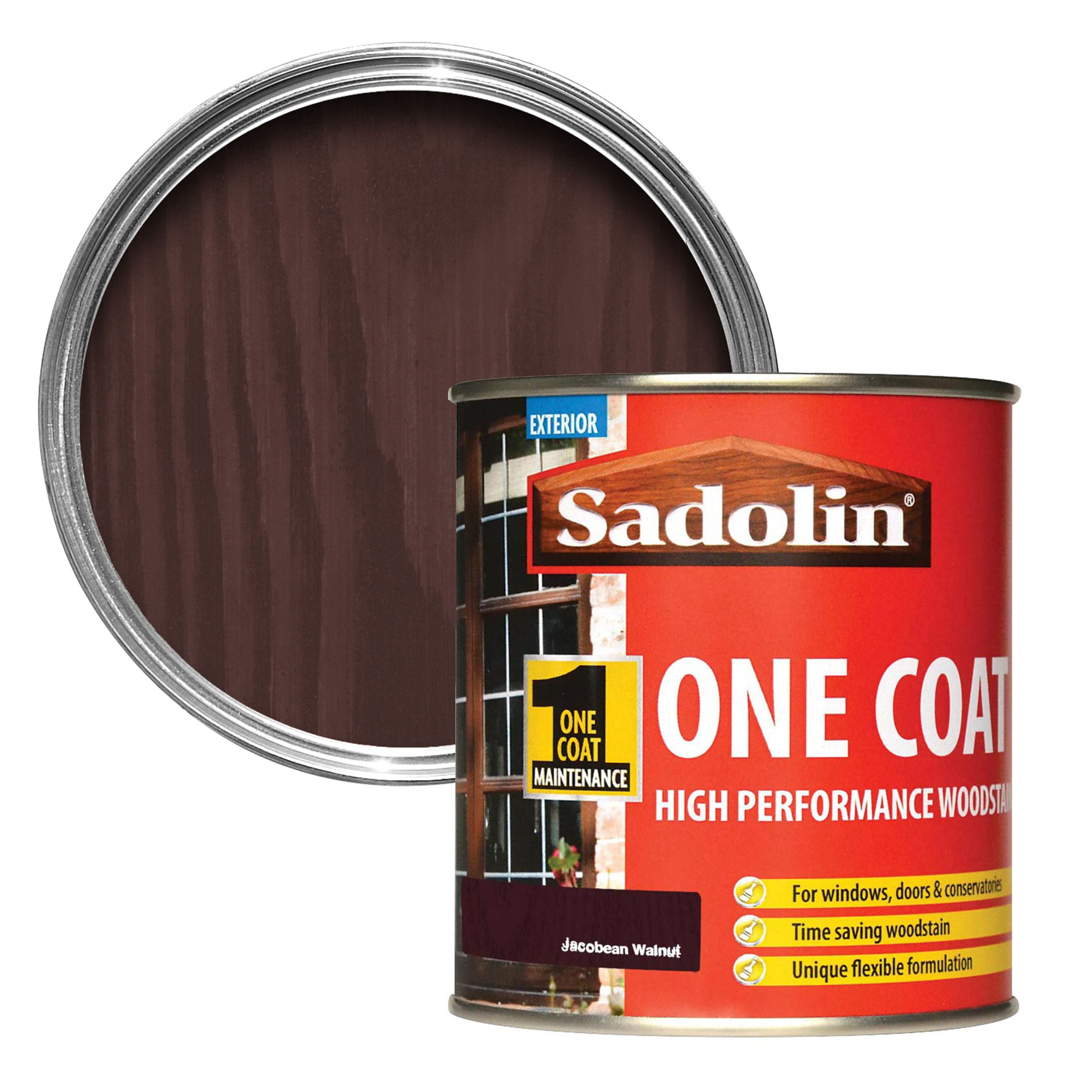 Sadolin jacobean walnut semi gloss wood stain 500ml departments tradepoint - Sadolin exterior wood paint image ...
