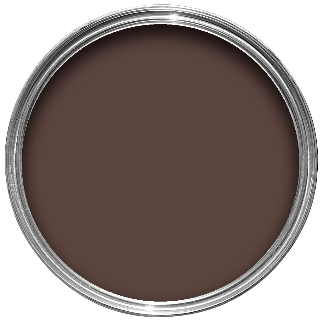 Sandtex exterior brown gloss wood metal paint 750ml for Exterior metal paint in dark brown