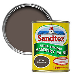 Sandtex Bitter Chocolate Brown Smooth Matt Masonry Paint