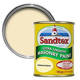 Sandtex Cornish Cream Matt Masonry Paint 150ml Tester