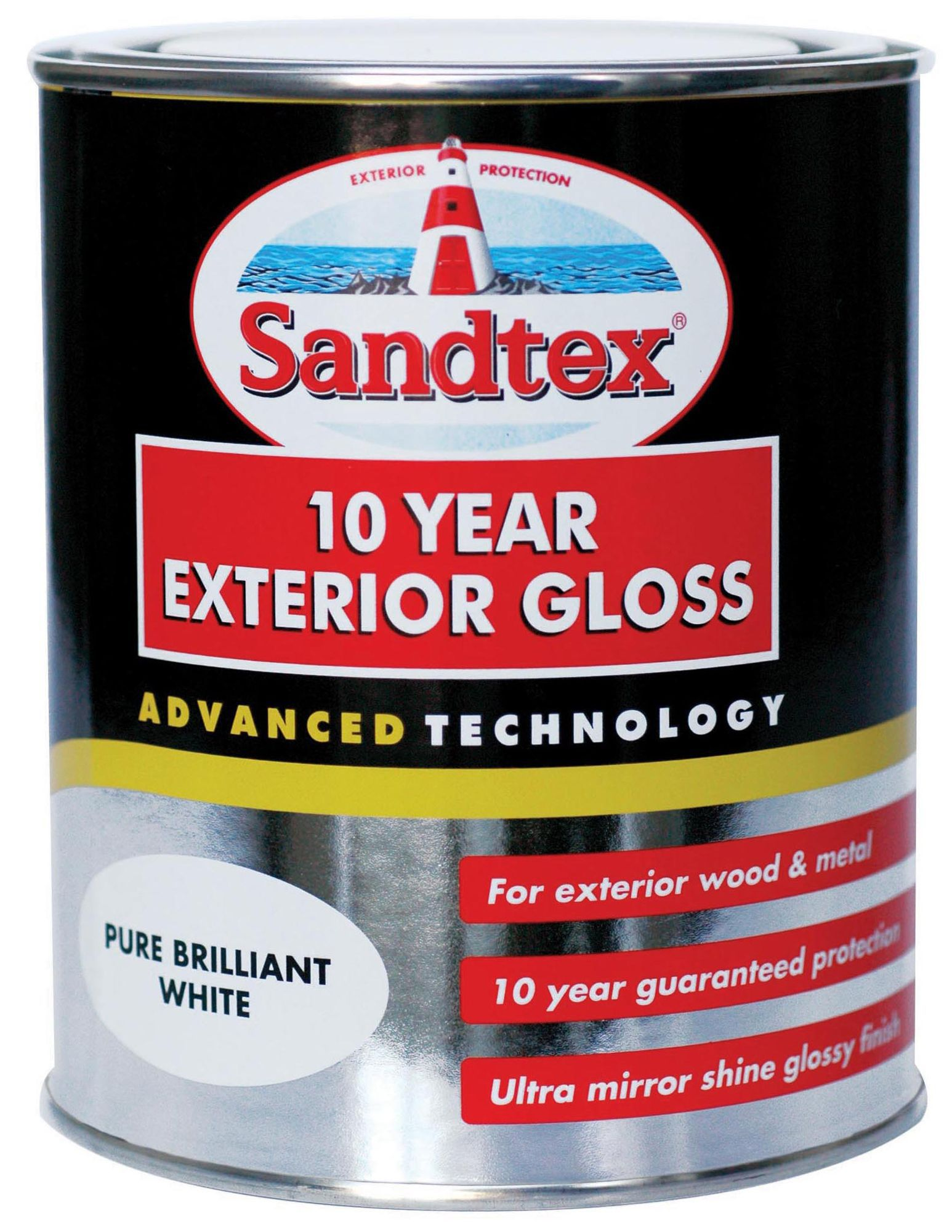 Sandtex Exterior Pure Brilliant White Gloss Wood Metal Paint 750ml Departments Diy At B Q