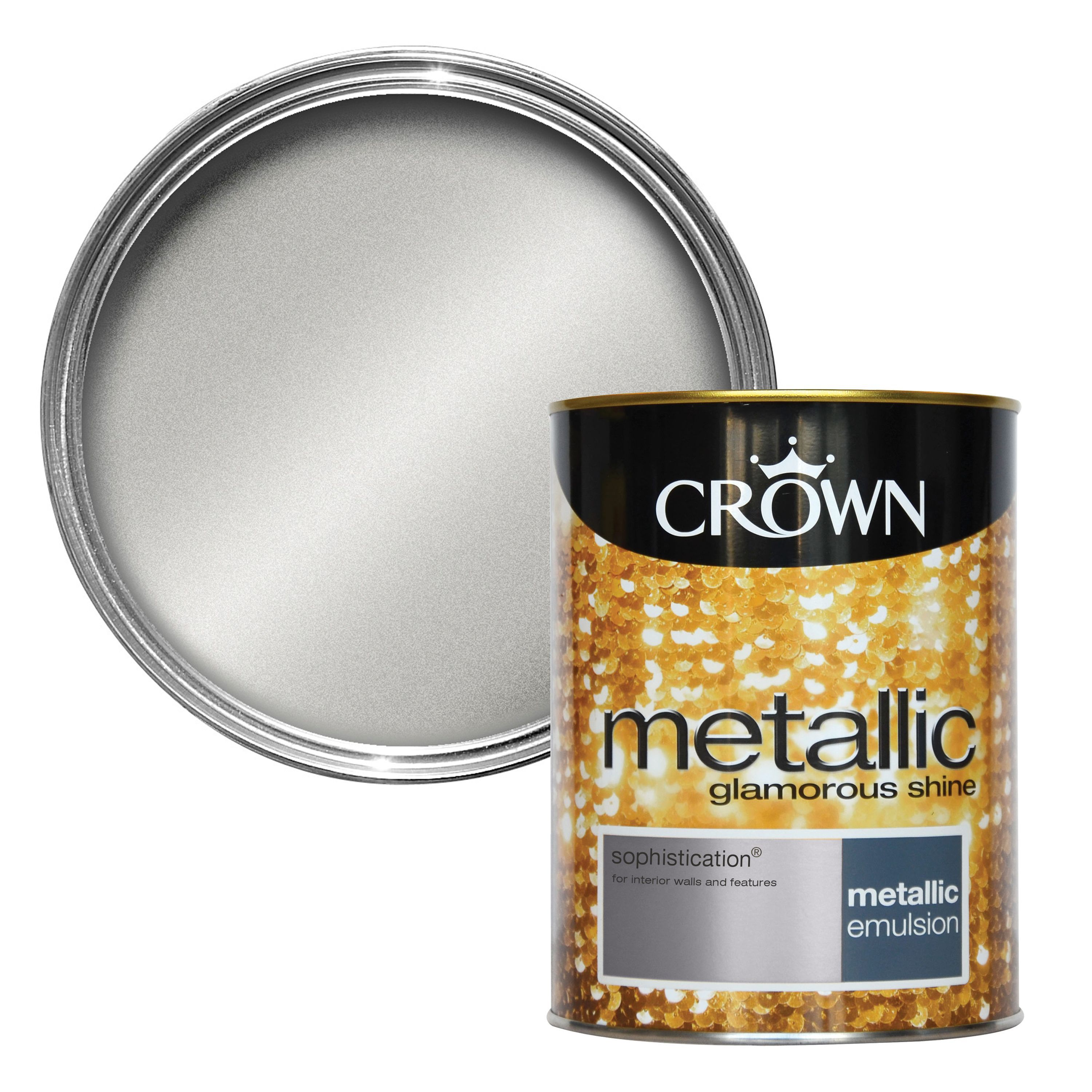 Crown Fashion For Walls Sophistication Metallic Emulsion Paint