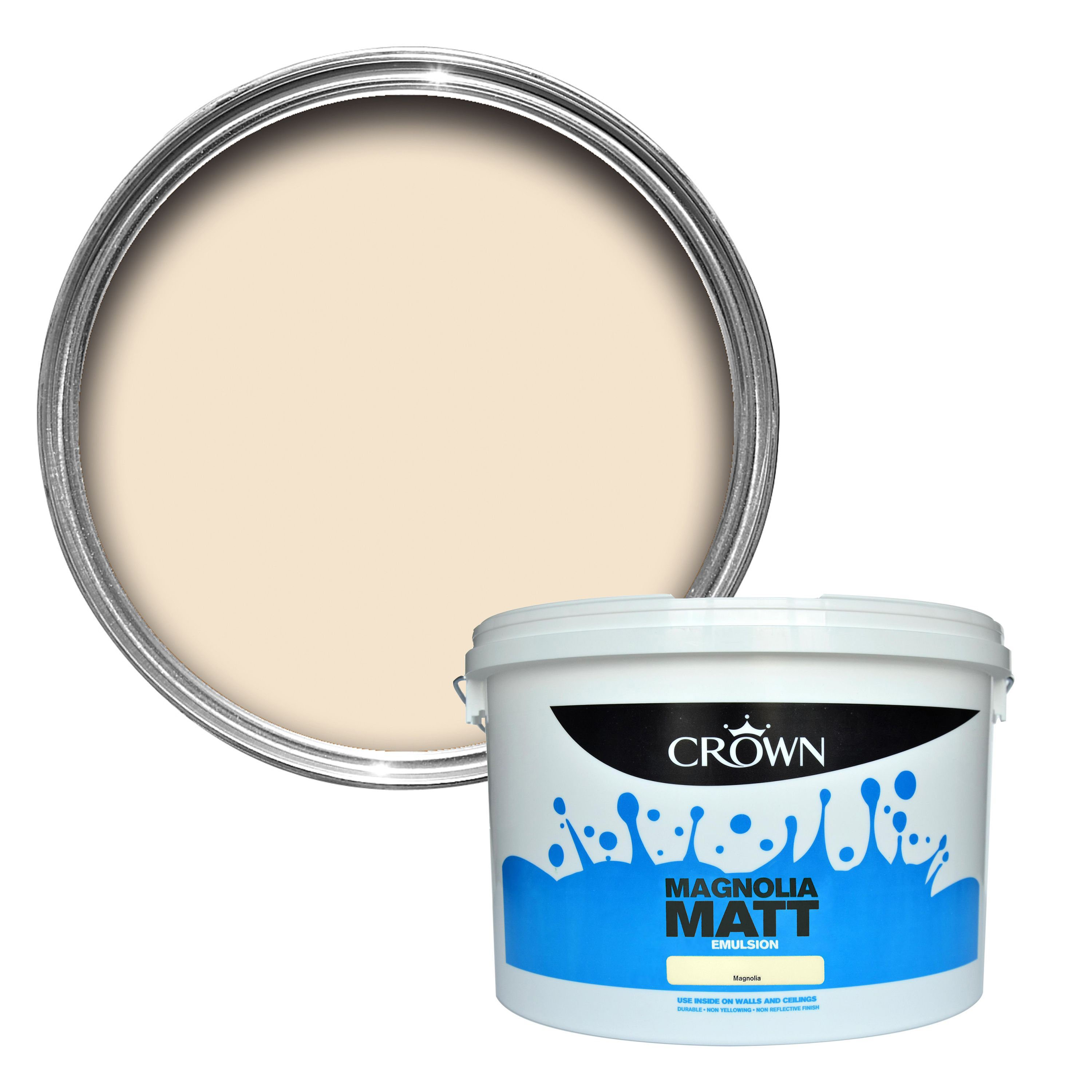 Crown Magnolia Matt Emulsion Paint 10l