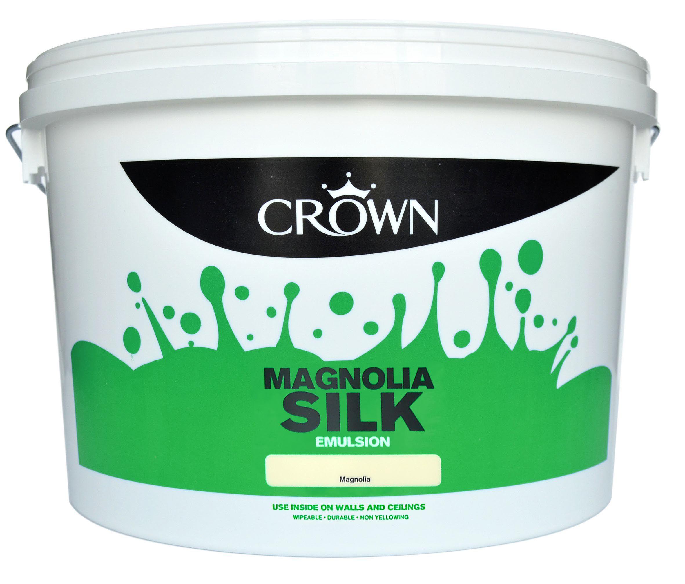 Crown Magnolia Silk Emulsion Paint 10l Departments Diy At B Amp Q