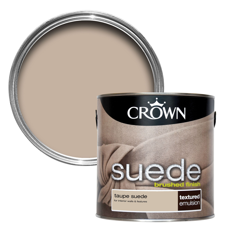 crown taupe matt emulsion paint 2 5l departments diy at b q