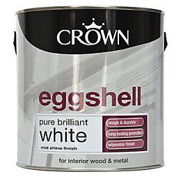 Crown Interior Pure Brilliant White Eggshell Wood &