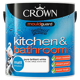 Crown Kitchen & Bathroom Pure Brilliant White Matt