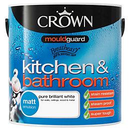 Crown Kitchen & Bathroom Pure Brilliant White Matt