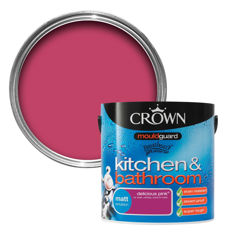 Crown Kitchen & Bathroom Delicious Pink Matt Emulsion