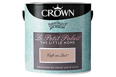Crown Petit Palais® Café Au Lait Matt Emulsion Paint 2.5L