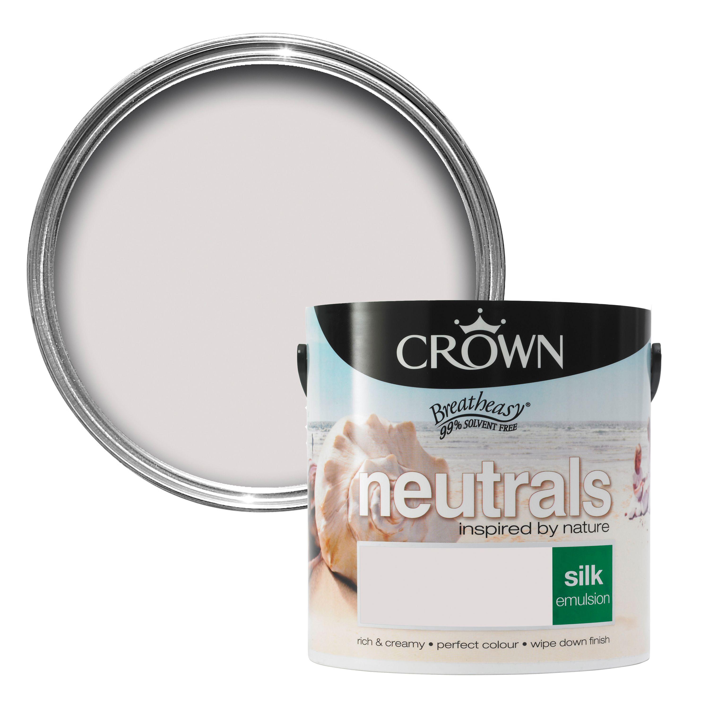 neutrals stoneware silk emulsion paint 2 5l departments diy at b q