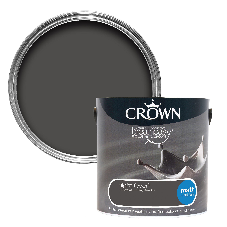 Crown Breatheasy Night Fever Matt Emulsion Paint 2 5l