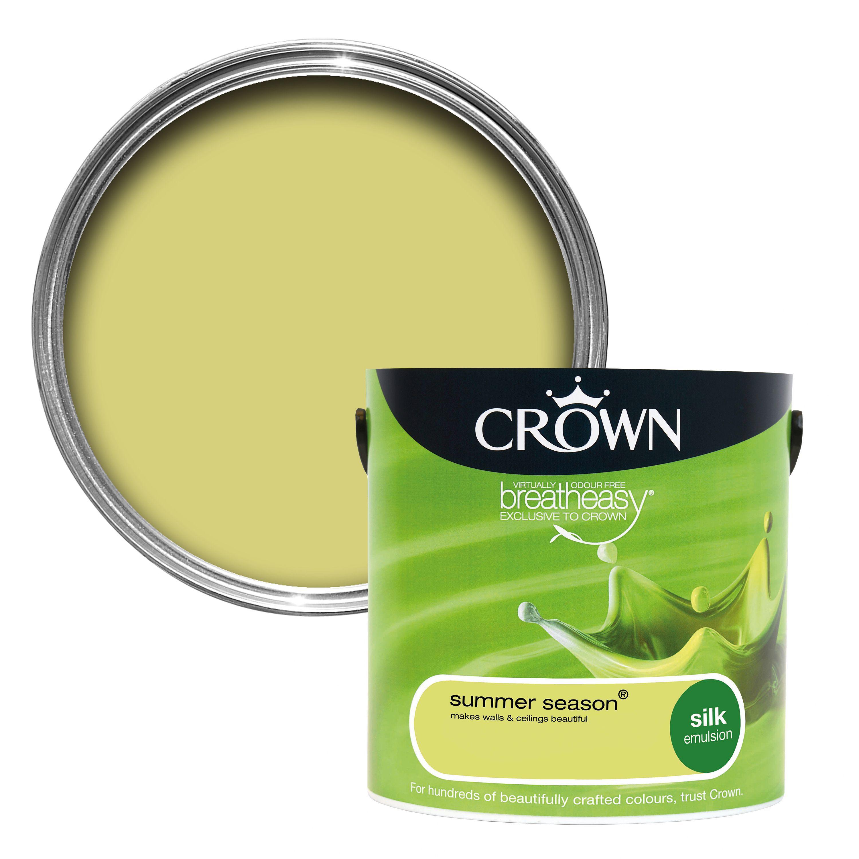 crown breatheasy summer season silk emulsion paint 2 5l