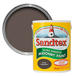Sandtex Bitter Chocolate Brown Smooth Masonry Paint 1L