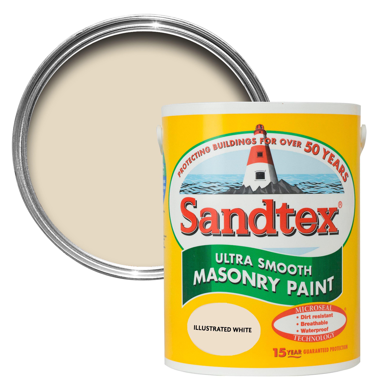 Sandtex Illus White Matt Masonry Paint 5l Departments
