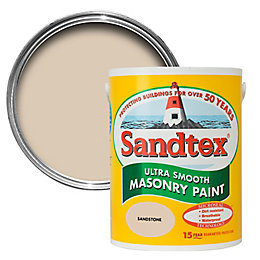 Sandtex Sandstone Beige Smooth Masonry Paint 5L