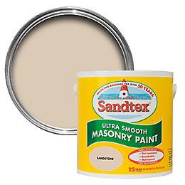 Sandtex Sandstone Beige Matt Masonry Paint 2.5L