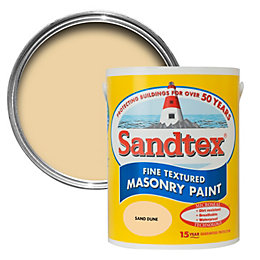 Sandtex Sand Dune Yellow Textured Masonry Paint 5L