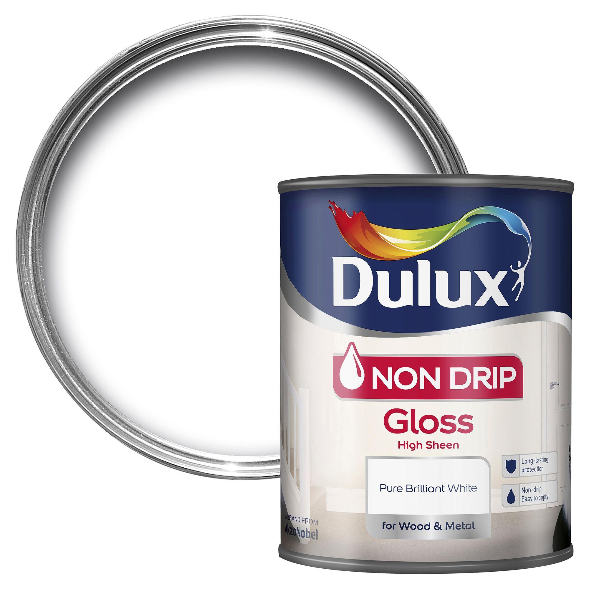 dulux interior pure brilliant white gloss wood metal. Black Bedroom Furniture Sets. Home Design Ideas