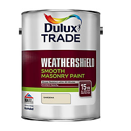 Dulux Trade Weathershield Gardenia Masonry Paint 5L