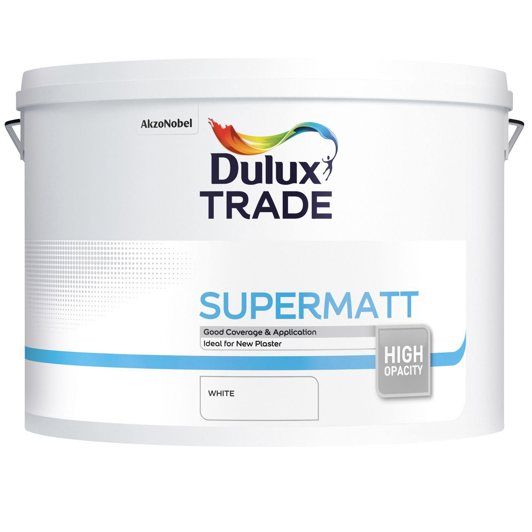 Dulux Trade Supermatt Paint White Ltr