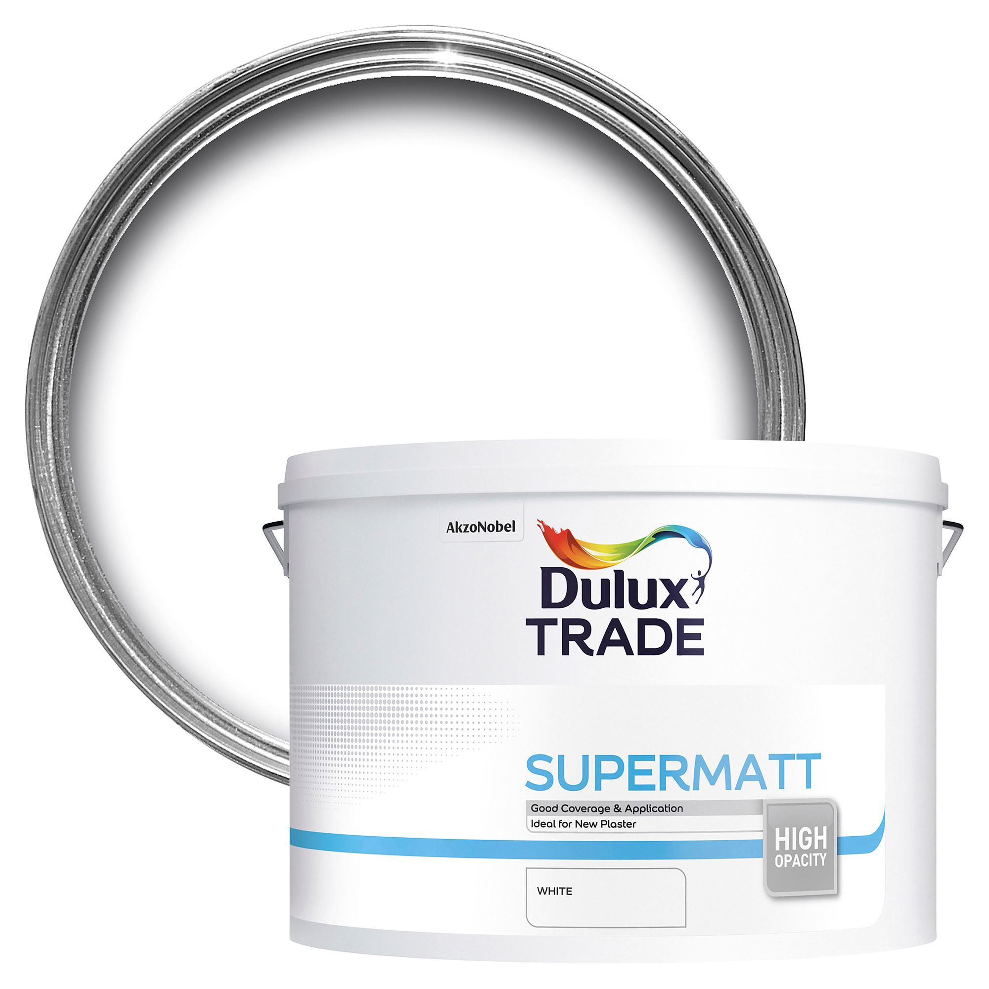 Dulux Trade Trade White Supermatt Emulsion Paint 10l