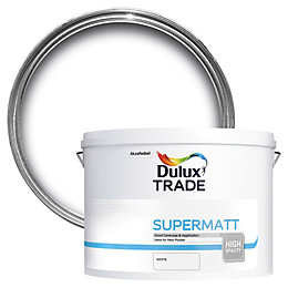 Dulux Trade White Supermatt Emulsion Paint 10L