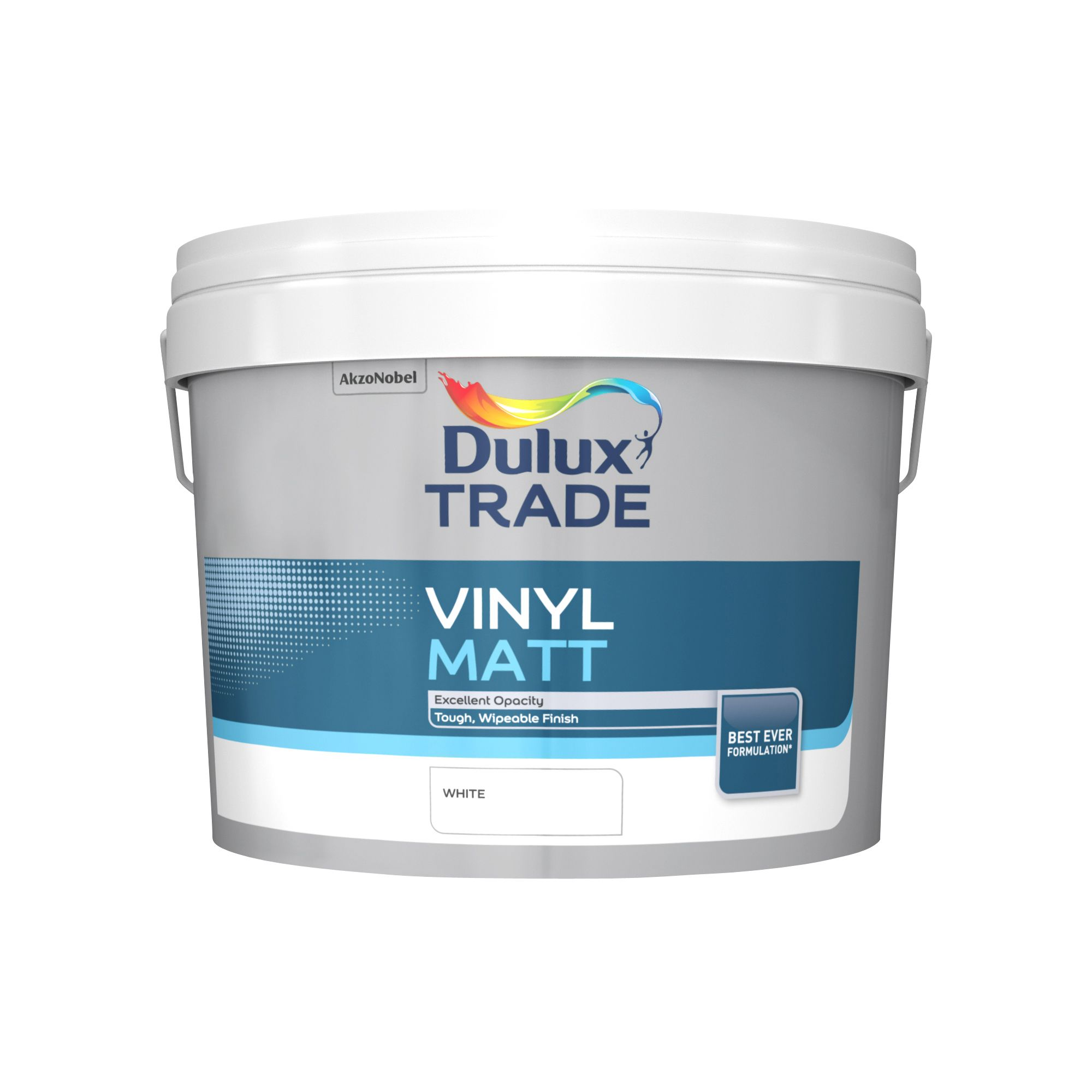 Dulux Trade Trade White Matt Emulsion Paint 10l