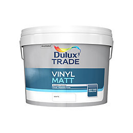 Dulux Trade White Matt Emulsion Paint 10L