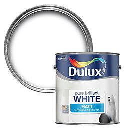 dulux nutmeg white matt emulsion paint 2 5l departments. Black Bedroom Furniture Sets. Home Design Ideas