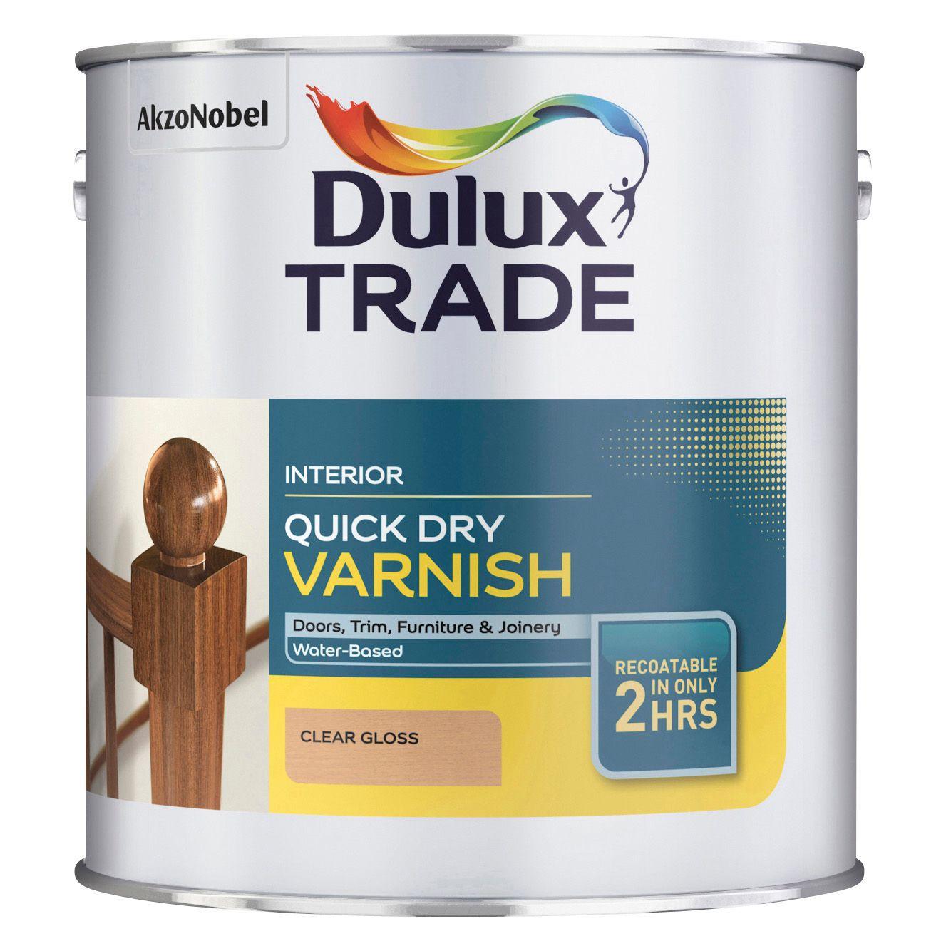 Dulux Trade Clear Gloss Varnish 2500ml