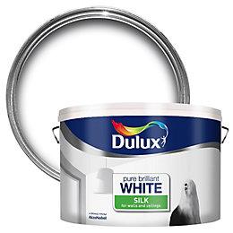 Dulux Pure Brilliant White Silk Emulsion Paint 10L